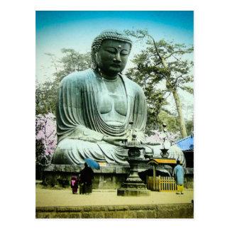 Carte Postale Le grand Daibutsu à Kamakura vieux Japon vintage