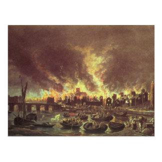 Carte Postale Le grand feu de Londres, 1666