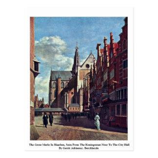 Carte Postale Le Grote Markt à Haarlem
