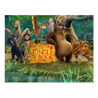 Carte Postale Le groupe de livre de jungle a tiré 5