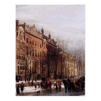 Carte Postale Le Herengracht de Amstel aan par Cornelis Springer