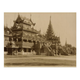 Carte Postale Le Hman Kyaung ou le monastère en verre, Birmanie
