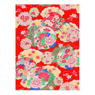 Carte Postale Le Japon, Sakura, kimono, origami, Chiyogami,