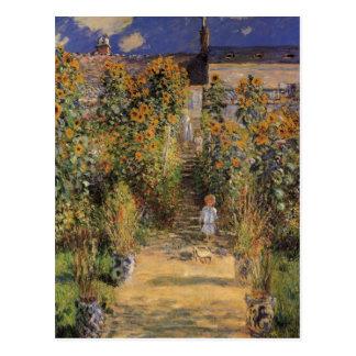 Carte Postale Le jardin de l'artiste chez Vetheuil par Claude