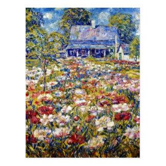 """Carte Postale """"Le jardin de pivoine"""""""