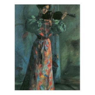 Carte Postale Le joueur de violon par Lovis Corinthe