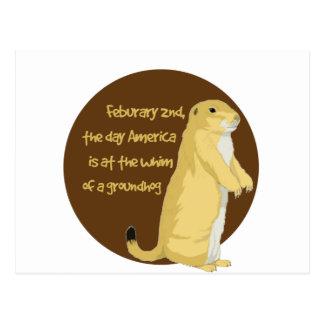 Carte Postale Le jour de Groundhog