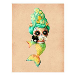 Carte Postale Le jour de la fille morte de sirène
