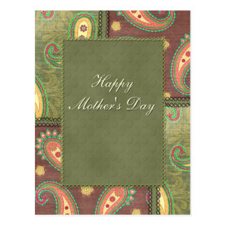 Carte Postale Le jour de mère - belle conception de Paisley