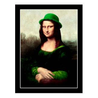 Carte Postale Le jour de St Patrick - Mona Lisa chanceuse