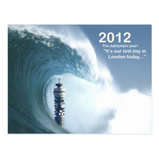 Carte Postale Le jour passé à Londres - un tsunami engloutit