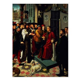 Carte Postale Le jugement de Cambyses, 1498