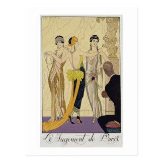 Carte Postale Le jugement de Paris, 1920-30 (copie de pochoir)