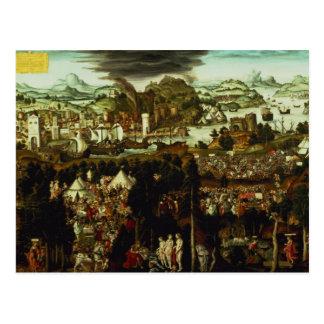 Carte Postale Le jugement de Paris et de la guerre Trojan, 1540