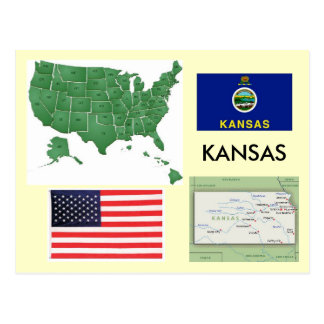 Carte Postale Le Kansas, Etats-Unis