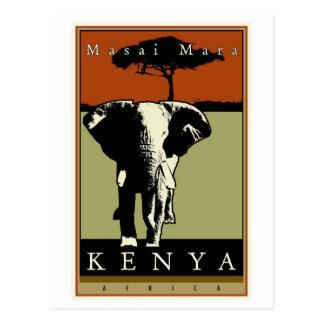 Carte Postale Le Kenya