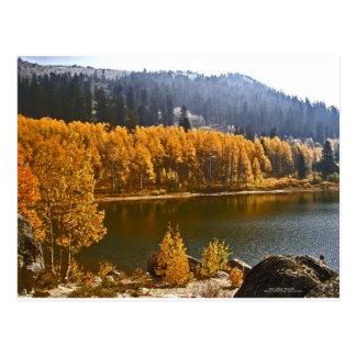 Carte Postale Le lac Tahoe en automne/paysage d'hiver