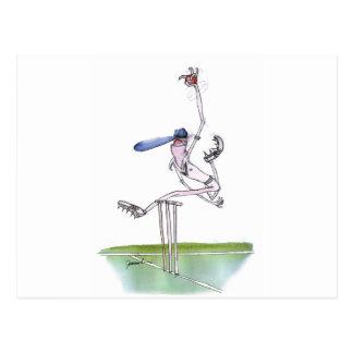 Carte Postale le lanceur - cricket, fernandes élégants