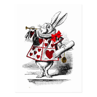 Carte Postale Le lapin blanc
