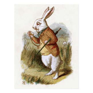 Carte Postale Le lapin blanc - Alice au pays des merveilles