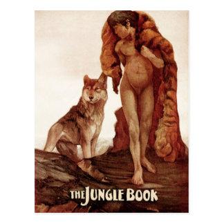 Carte Postale Le livre de jungle : Mowgli et le loup solitaire