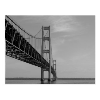 Carte Postale Le long de la gamme de gris de pont de Mackinac
