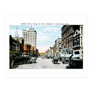"""Carte Postale """"Le long de la route de Dixie"""", Chattanooga, Tenn."""