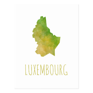 Carte Postale Le Luxembourg tracent
