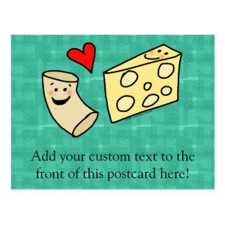 Carte Postale Le Mac aime le fromage, macaronis mignons drôles +