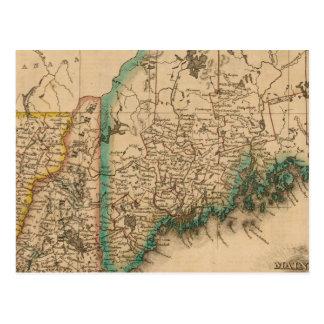 Carte Postale Le Maine, New Hampshire, Vermont 2