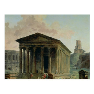 Carte Postale Le Maison Carree avec l'amphithéâtre