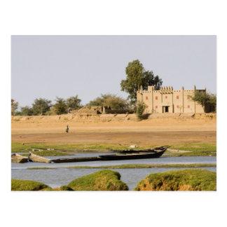 Carte Postale Le Mali, Djenne. Rivière de Bani près de Djenne