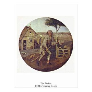 Carte Postale Le marchand ambulant. Par Hieronymus Bosch
