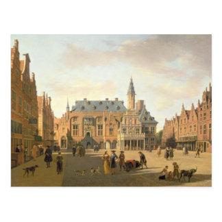 Carte Postale Le marché avec le Raadhuis