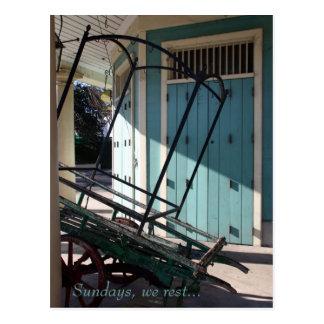Carte Postale Le marché français de la Nouvelle-Orléans à l'aube