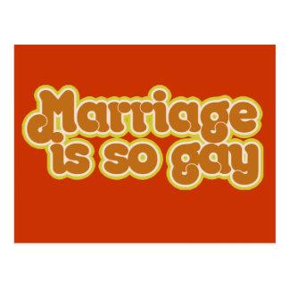 Carte Postale Le mariage est si gai