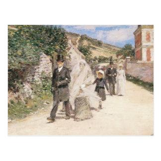 Carte Postale Le mariage mars par Robinson, nouveaux mariés