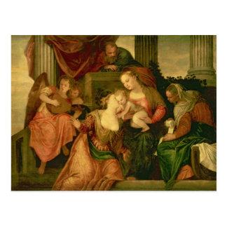 Carte Postale Le mariage mystique du saint Catherine