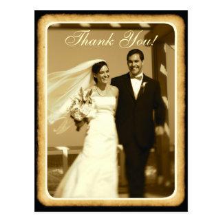 Carte Postale Le mariage vintage modifié la tonalité par sépia