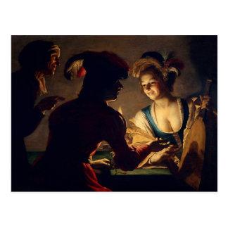 Carte Postale Le marieur - Gerrit Van Honthorst