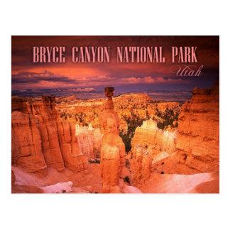 Carte Postale Le marteau du Thor, parc national de canyon de