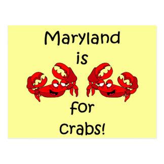 Carte Postale Le Maryland est pour des crabes