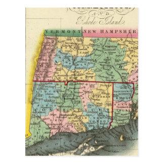 Carte Postale Le Massachusetts, le Connecticut, Île de Rhode