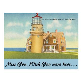 Carte Postale Le Massachusetts, le phare principal de