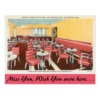 Carte Postale Le Massachusetts, salon de cocktail, New Bedford