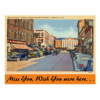 Carte Postale Le Massachusetts, St de Brattle, Cambridge