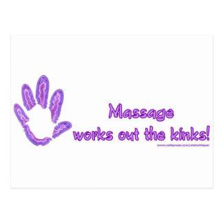 Carte Postale Le massage établit les replis