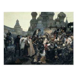 Carte Postale Le matin de l'exécution du Streltsy