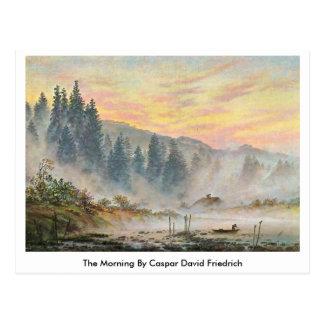 Carte Postale Le matin par Caspar David Friedrich