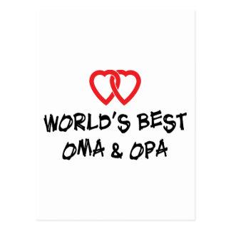 Carte Postale Le meilleur cadeau d'Oma et d'Opa du monde